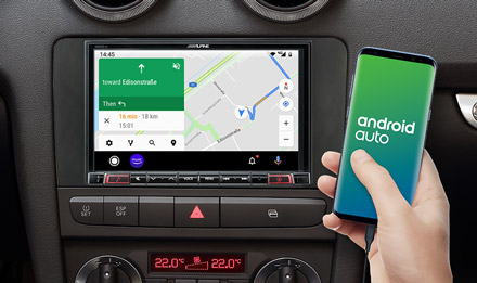 Online Navigation with Android Auto - X803D-A3
