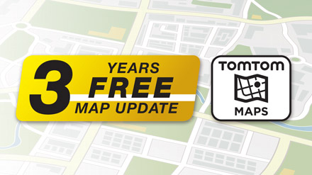3 Years Free-Of-Charge Map Updates - INE-W611DU