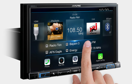 High Resolution WVGA Touch Screen  - X803D-RN