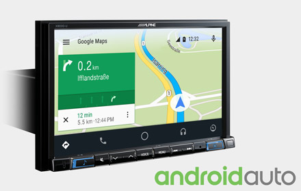 Online Navigation with Android Auto - X803D-RN