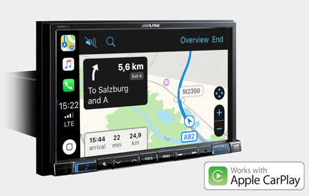 Online Navigation with Apple CarPlay - X803D-RN