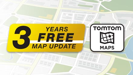 TomTom Maps with 3 Years Free-of-charge updates - INE-W720S453B
