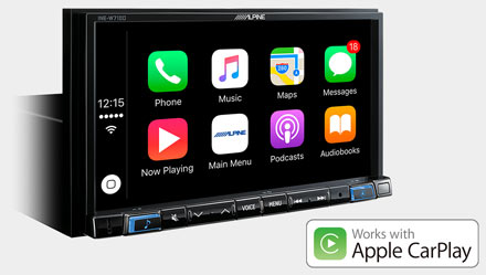 Works with Apple CarPlay - INE-W720S453B