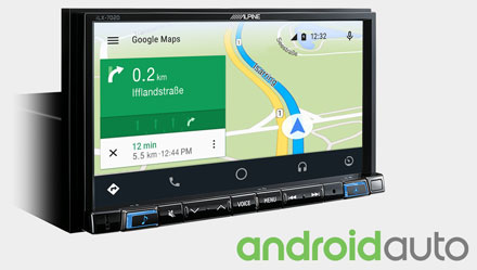 Online Navigation with Android Auto - iLX-702S453B
